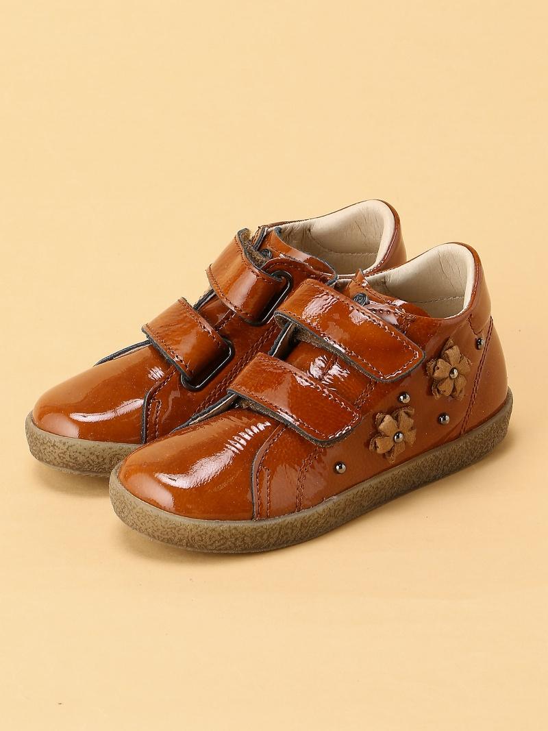 Choose 低価格 Your Shoes スーパーセール キッズ シューズ チューズユアシューズ Naturino SALE 35%OFF ナチュリーノ フラワーデザイン キッズシューズ ハイカットシューズ エナメル ベージュ ベルクロ RBA_E 送料無料 2007418 キャメル