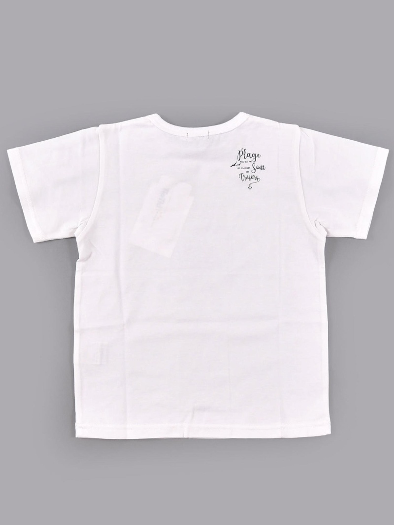 SALE 30 OFF BeBe アニマル柄ナレTシャツ ベベ オンライン ストア カットソー Tシャツ ホワイト イエロー パープル RBA EuJTK5lF13c