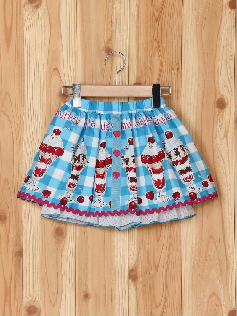 ShirleyTemple パフェptパンツ付スカート シャーリーテンプル スカート キッズスカート ブルー【送料無料】