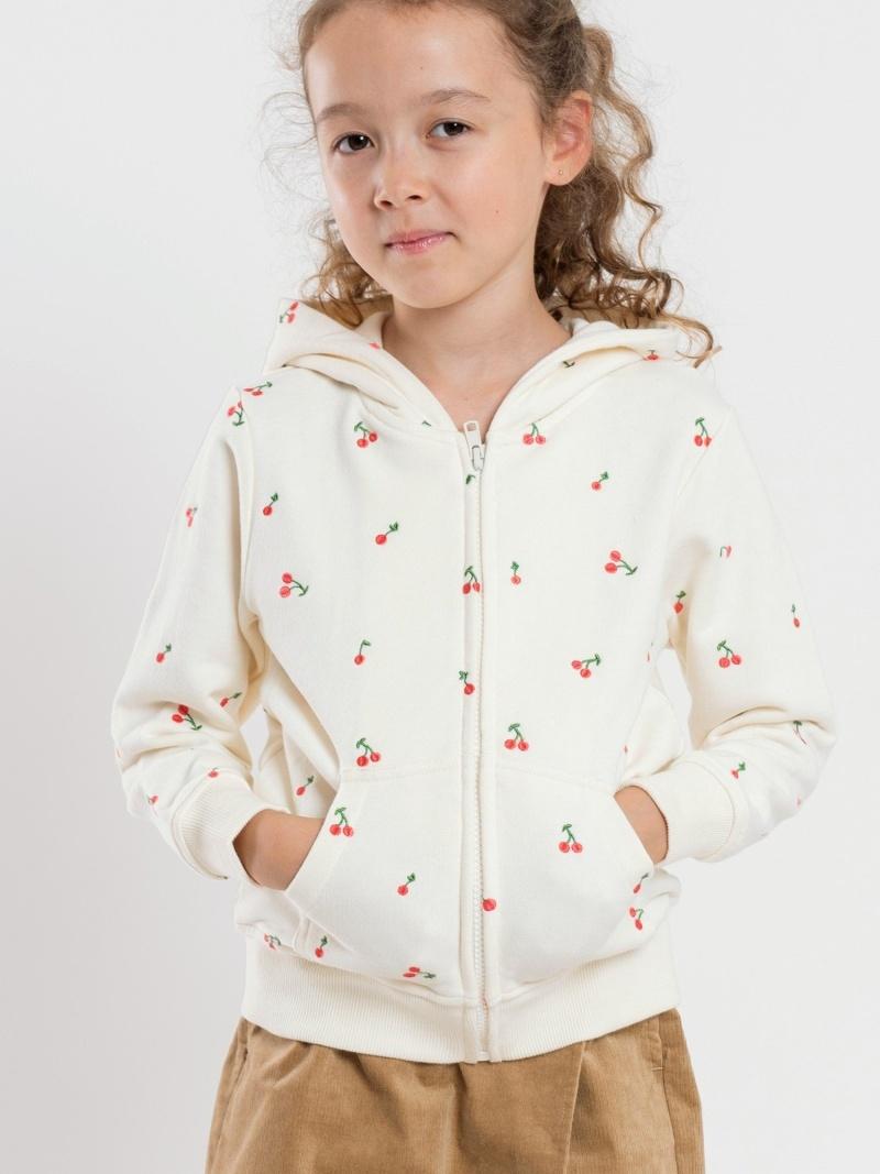 SHIPS KIDS SHIPSKIDS:チェリー刺繍パーカー(100~130cm) シップス カットソー Tシャツ ブラウン ネイビー【送料無料】