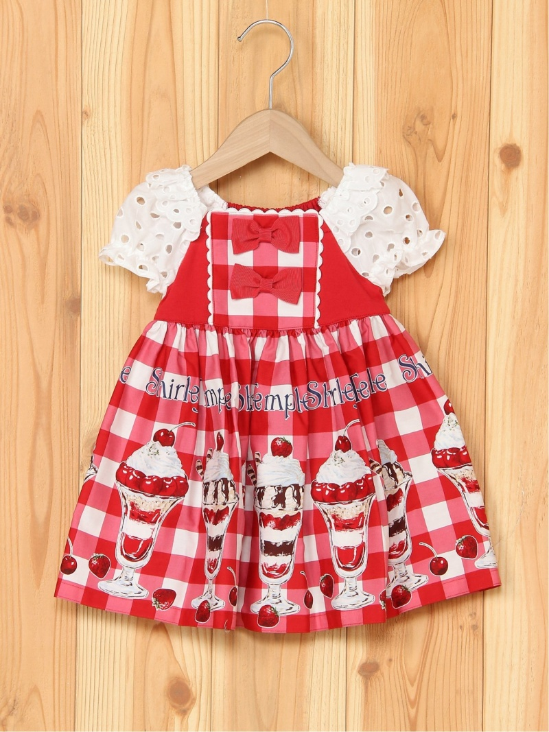 ShirleyTemple パフェptOP シャーリーテンプル ワンピース キッズワンピース レッド【送料無料】