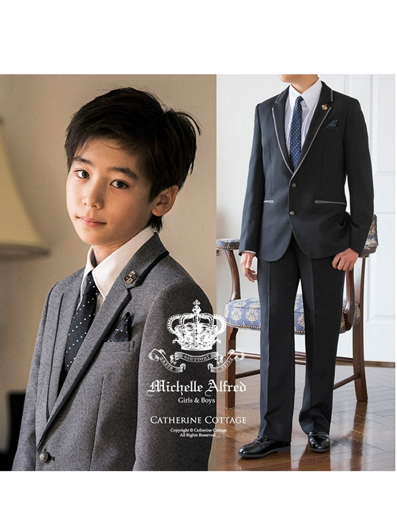 子供スーツ ピーク襟ジャケットスーツ6点セット キャサリンコテージ ワンピース【送料無料】