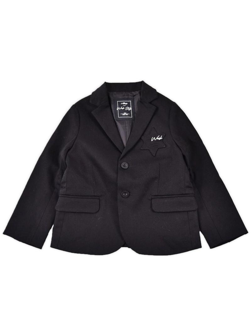 WASK 星ポケットテーラードジャケット(140cm~160cm) ベベ オンライン ストア ビジネス/フォーマル スーツ ブラック グリーン【送料無料】