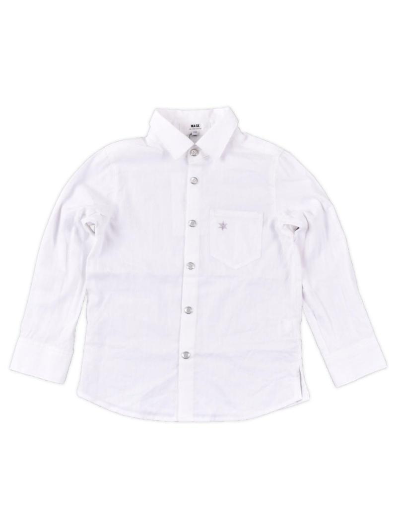 WASK ストライプジャカードシャツ(140cm~160cm) ベベ オンライン ストア シャツ/ブラウス シャツ/ブラウスその他 ホワイト ブルー【送料無料】