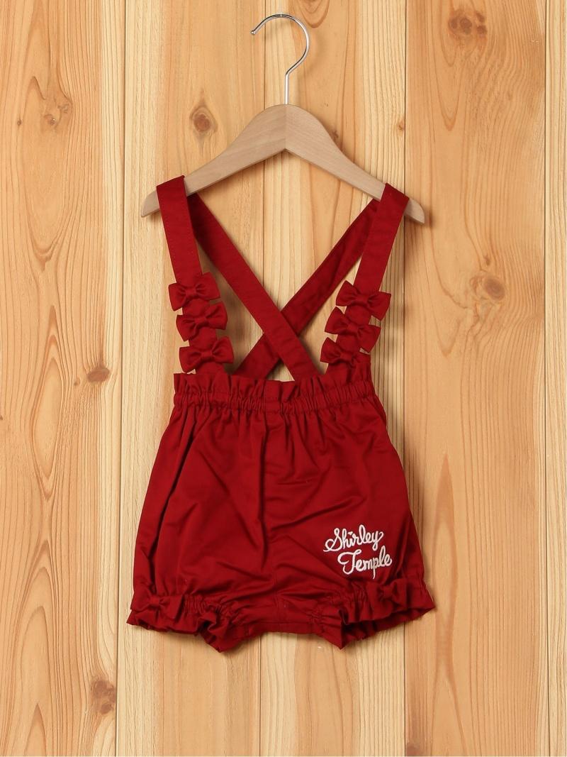 ShirleyTemple リボン付きパンツ シャーリーテンプル パンツ/ジーンズ キッズパンツ レッド ピンク【送料無料】