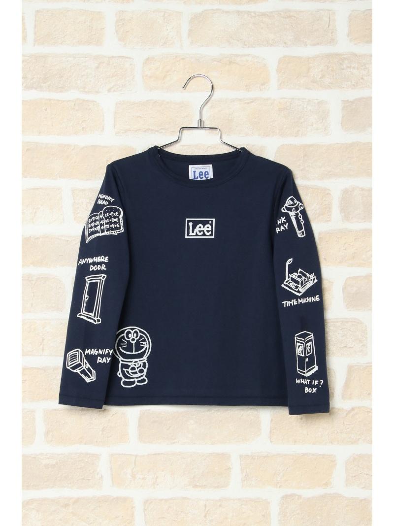 ikka 【キッズ】Lee×I'mDoraemonロングTシャツ(110~140cm) イッカ カットソー キッズカットソー カーキ【送料無料】