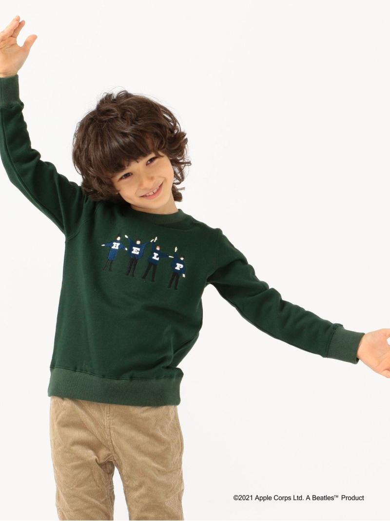 SHIPS KIDS SHIPSKIDS:<パパとおそろい>【THEBEATLES(ザ・ビートルズ)】スウェット(100~130cm) シップス カットソー Tシャツ グリーン ブラウン グレー ネイビー【送料無料】