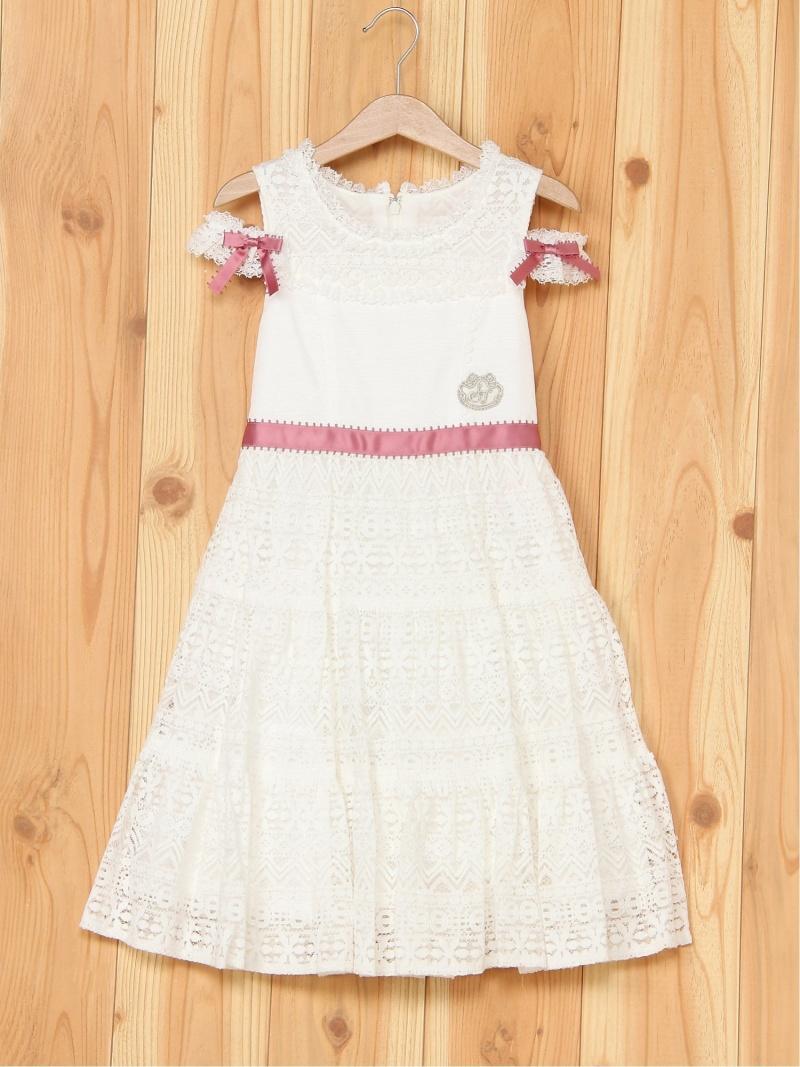 【SALE/50%OFF】ShirleyTemple ドレス シャーリーテンプル ワンピース キッズワンピース ホワイト【RBA_E】【送料無料】