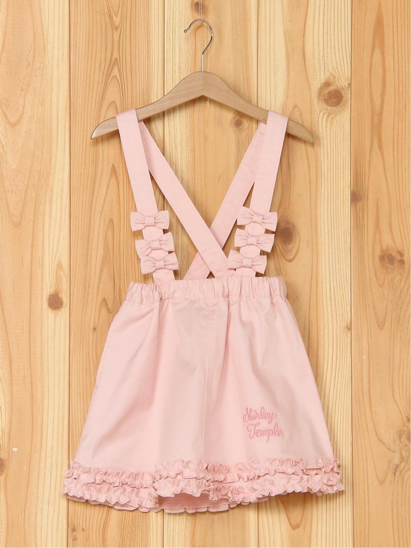 ShirleyTemple リボン使い裾フリルスカート シャーリーテンプル スカート キッズスカート【送料無料】