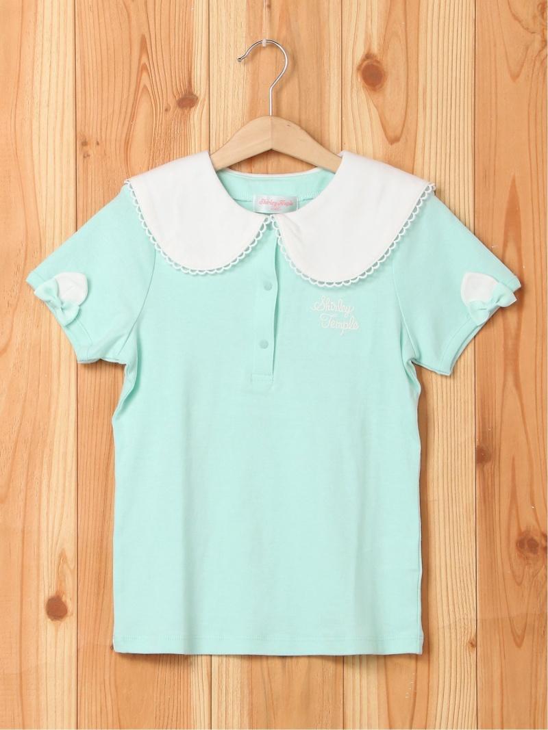ShirleyTemple ねこちゃんセーラーカラーTシャツ シャーリーテンプル カットソー キッズカットソー ブルー【送料無料】