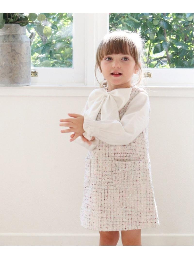 Rora マオ ツイードジャンパースカート ローラ スカート キッズスカート ホワイト【送料無料】