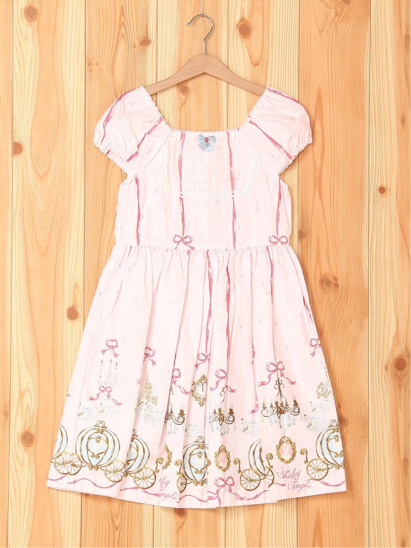 【SALE/50%OFF】ShirleyTemple プリンセスptワンピース シャーリーテンプル ワンピース キッズワンピース ピンク【RBA_E】【送料無料】