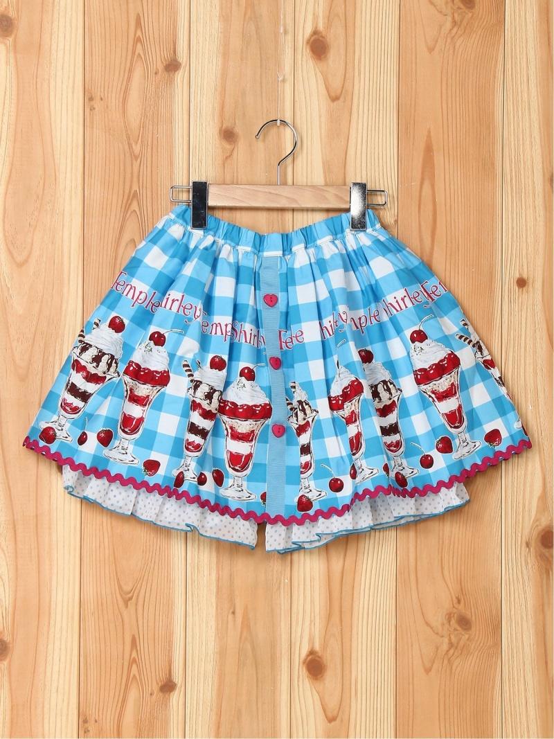 ShirleyTemple パフェptパンツ付 シャーリーテンプル スカート キッズスカート ブルー【送料無料】