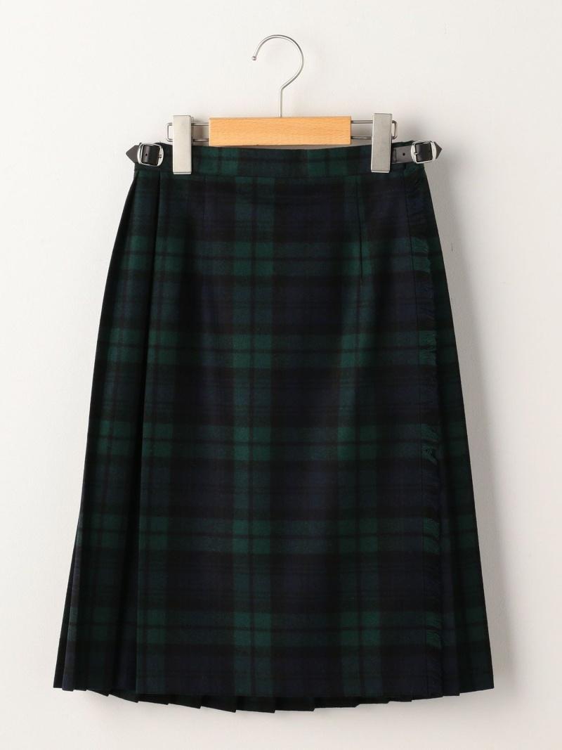 SHIPS KIDS O'NEILOFDUBLIN:ウールキルトスカート(140cm) シップス スカート ロングスカート グリーン レッド【送料無料】