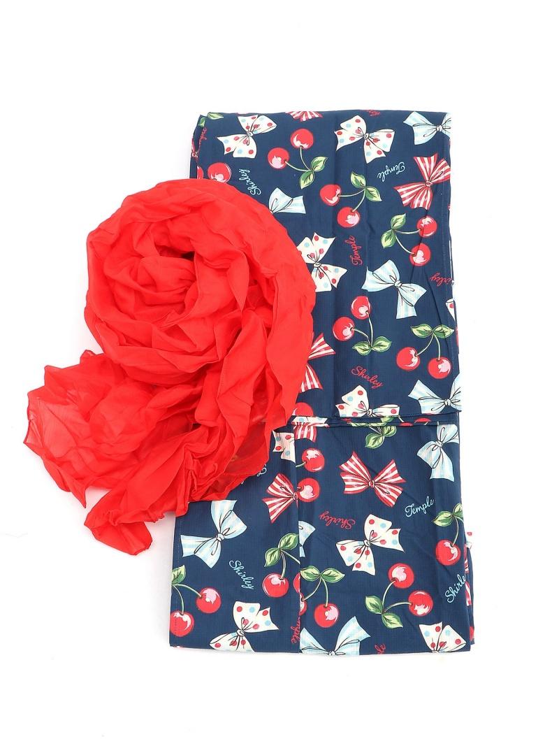 ShirleyTemple 浴衣 シャーリーテンプル ビジネス/フォーマル 着物/浴衣 ネイビー ピンク【送料無料】