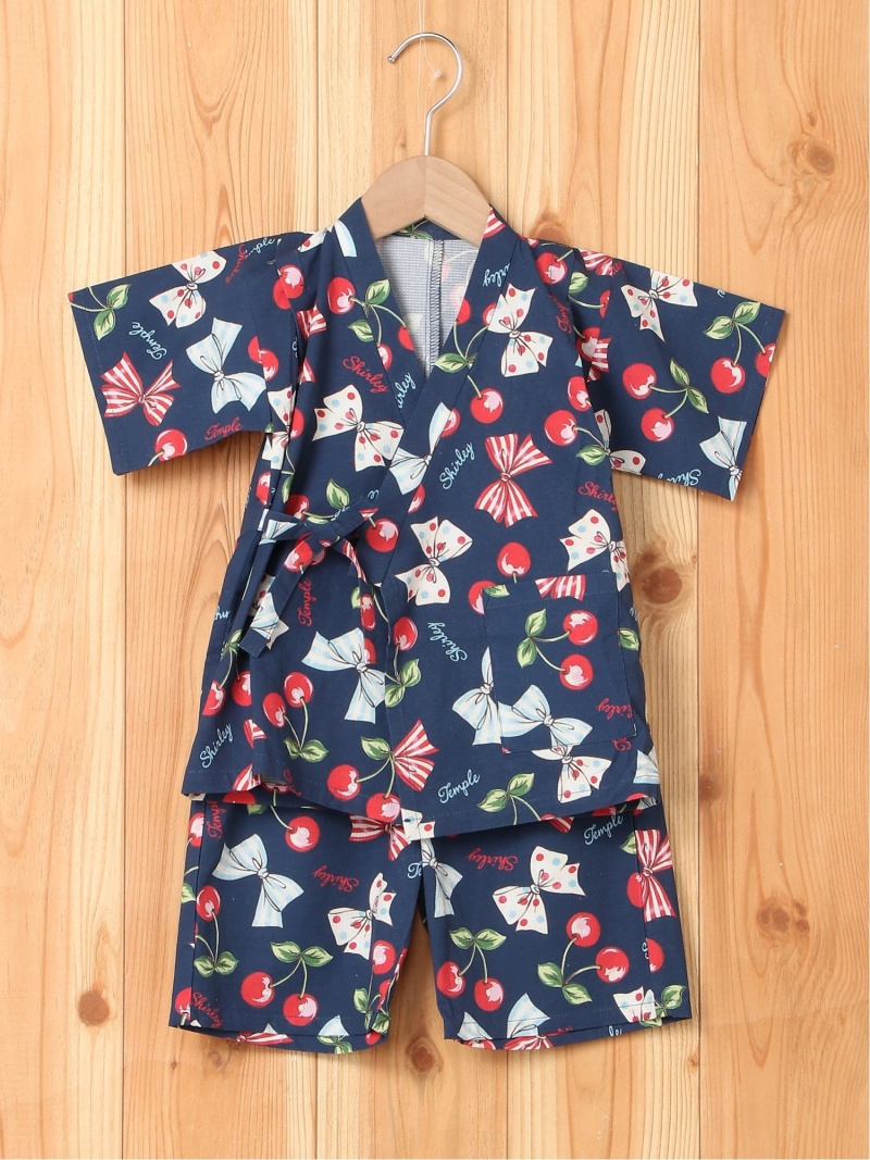 ShirleyTemple 甚平 シャーリーテンプル ファッショングッズ キッズ用品 ネイビー ピンク【送料無料】