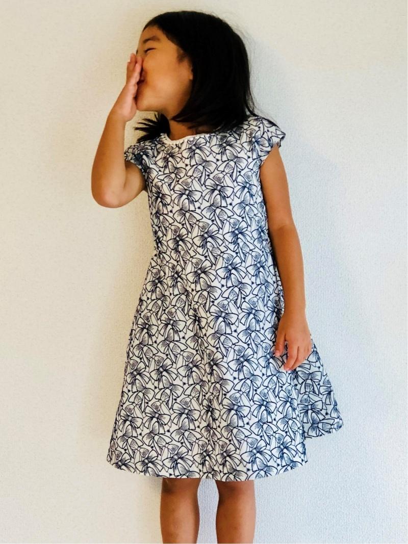 PICHU PICHU TOKYO PICHU PICHU TOKYO/(K)Dress Ribbon Candy ピチュピチュトウキョウ ワンピース キッズワンピース ネイビー【送料無料】