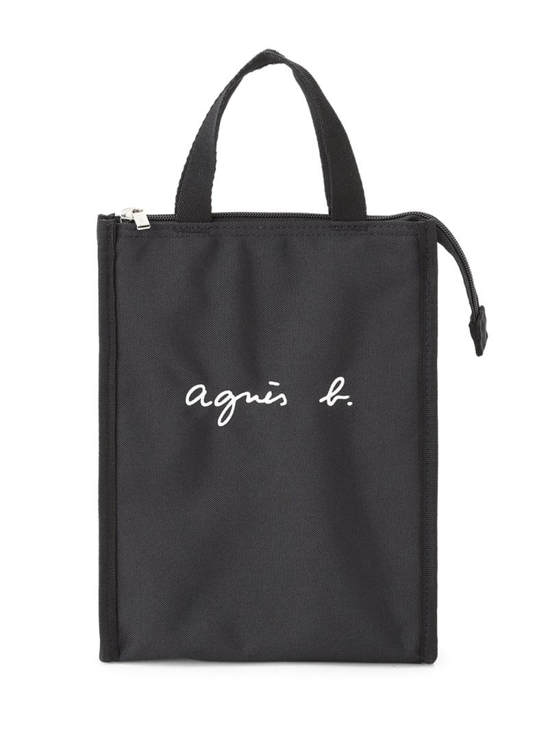210412_agnesb_kids agnes b. キッズ バッグ アニエスベー ENFANT K ブラック E ロゴ保冷ランチバッグ GL11 送料無料お手入れ要らず 感謝価格 キッズバッグ BAG