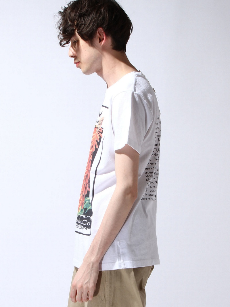 Niche. Flower seeds T-shirt-orange STYLIFE奥特莱斯针织