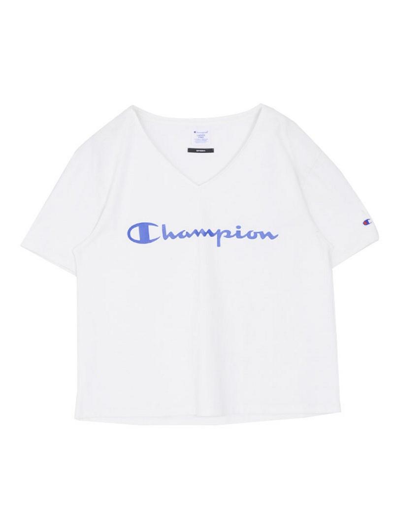 EMODA EMODA × 冠军 V 颈部颜色标志 T / S 阿莫杜
