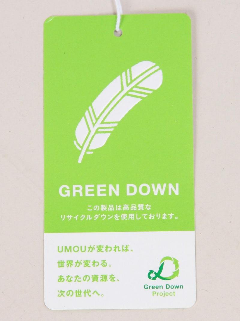 美国箭头绿色标签轻松 ◆ PJT KF GREENDOWN 毛皮羽绒服打开曼联的箭头绿色标签休闲外套 / 夹克