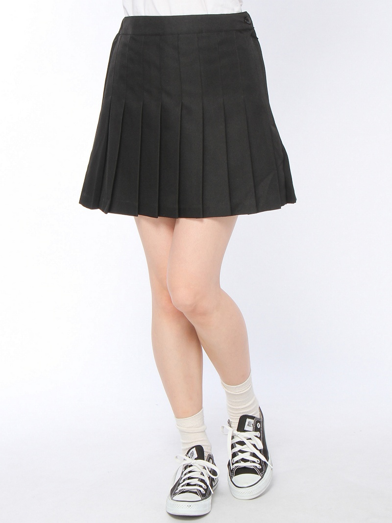 BROWNY STANDARD(L)素色褶迷你裙我们前进裙子