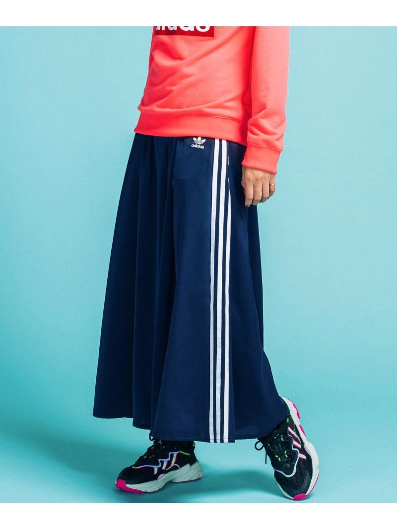 【SALE/60%OFF】adidas Originals ロング サテン スカート [LONG SATIN SKIRT] アディダスオリジナルス アディダス スカート ロングスカート ネイビー ブラック【送料無料】