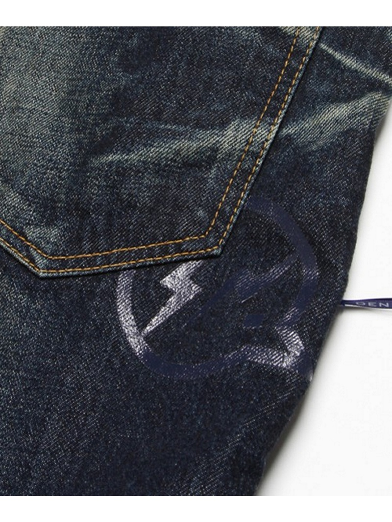 DENIM BY VANQUISH&FRAGMENT one year wash low crotch cropped denim denimubaivankisshuandofuragumentopantsu/牛仔裤