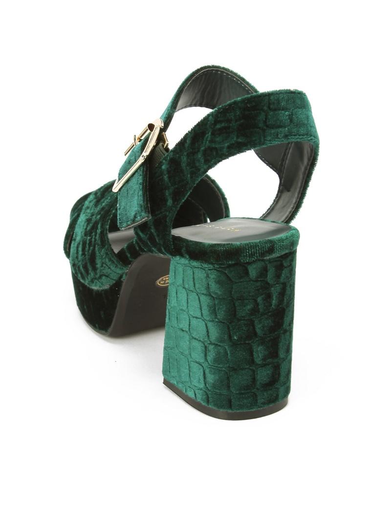 LOWRYS FARM天鵝絨交叉涼鞋羅利農場鞋