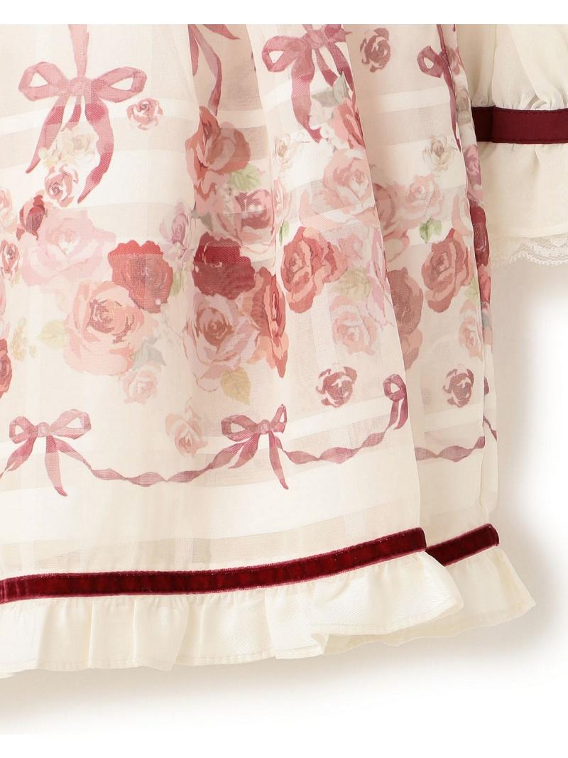 LIZ LISA 英语玫瑰肩花边礼服利兹