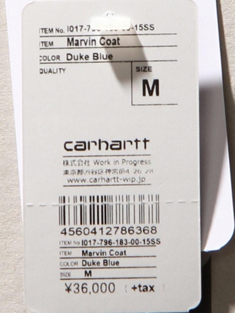 carhartt MARVIN COAT汽车心大衣/茄克