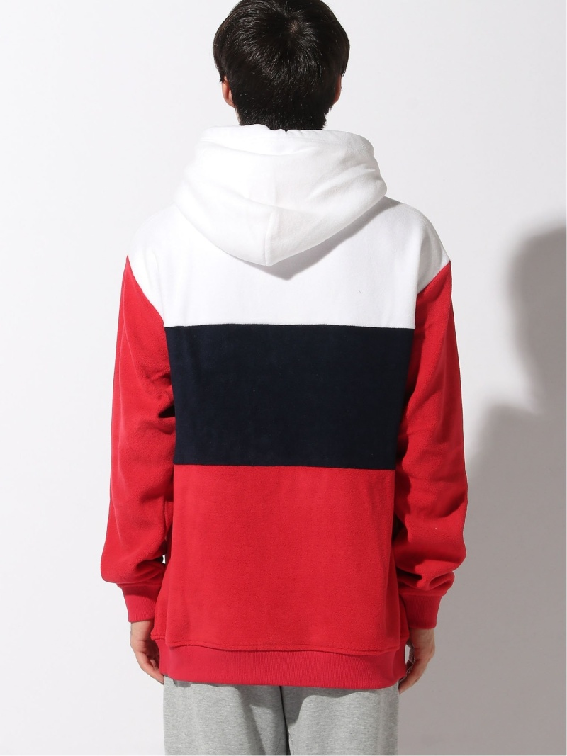 (M)TOMMY JEANS/カラー ブロック フリース パーカー