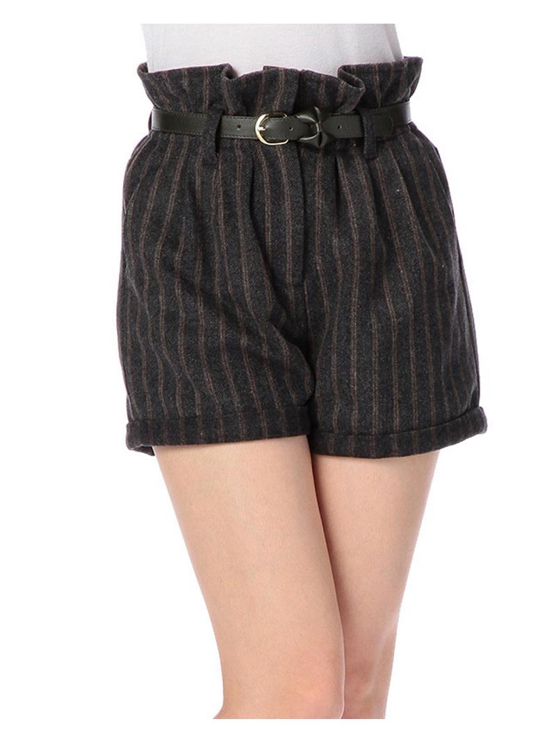 附带LIZ LISA皮带的羊毛裤子LIZ LISA裤子/牛仔裤