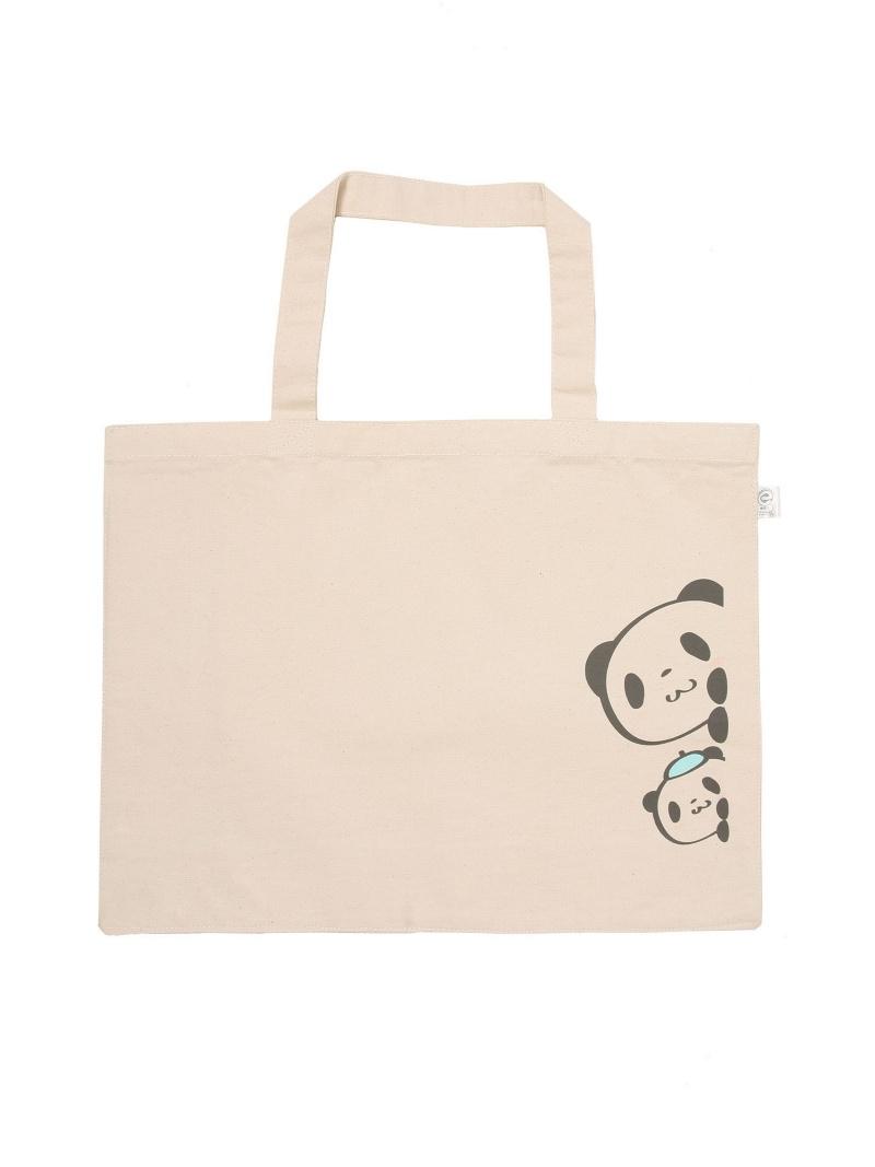 购物狂购物熊猫/打印帆布袋 (大) 购物熊猫
