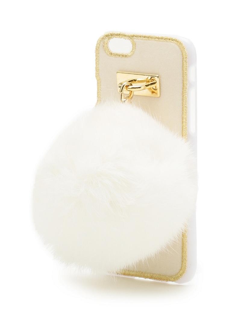 LIZ LISA 毛皮 iPhone 案例利兹