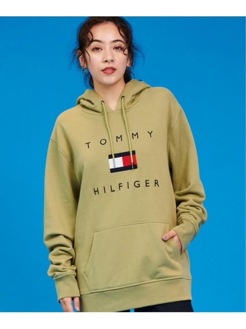 TOMMY HILFIGER (M)TOMMY HILFIGER(トミーヒルフィガー) フラッグロゴ パーカー トミーヒルフィガー カットソー パーカー カーキ グレー ネイビー ブラック ホワイト レッド【送料無料】