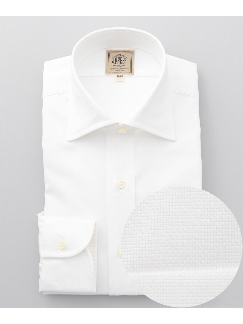 J.PRESS MEN シングルニードルGIZA88 ロイヤルオックスワイドカラー ドレスシャツ ジェイプレス シャツ/ブラウス【送料無料】