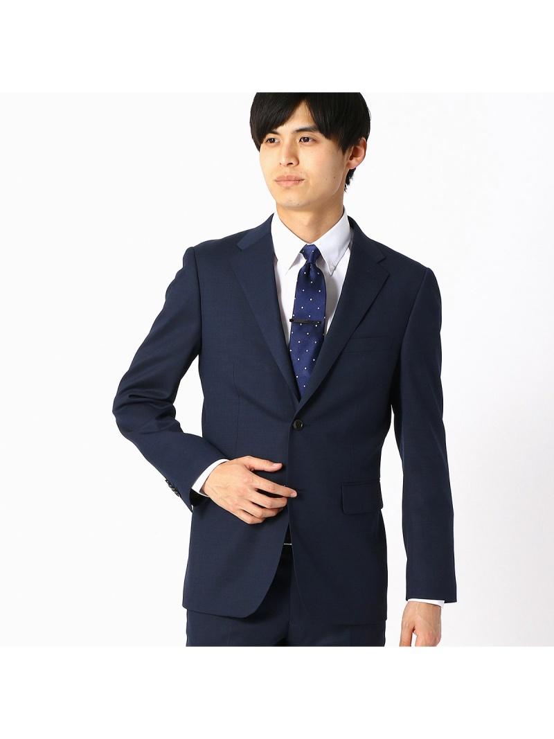 COMME CA ISM 〈セットアップ〉ピンヘッドスーツジャケット コムサイズム ビジネス/フォーマル セットアップスーツ ネイビー ブラック【送料無料】