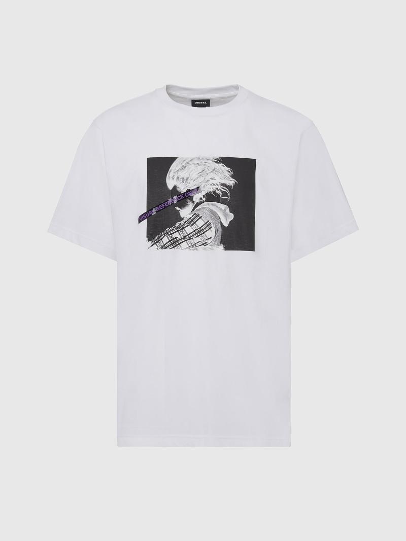 DIESEL T-TUBOLAR-X20 ディーゼル カットソー Tシャツ ホワイト ブラック グリーン【送料無料】