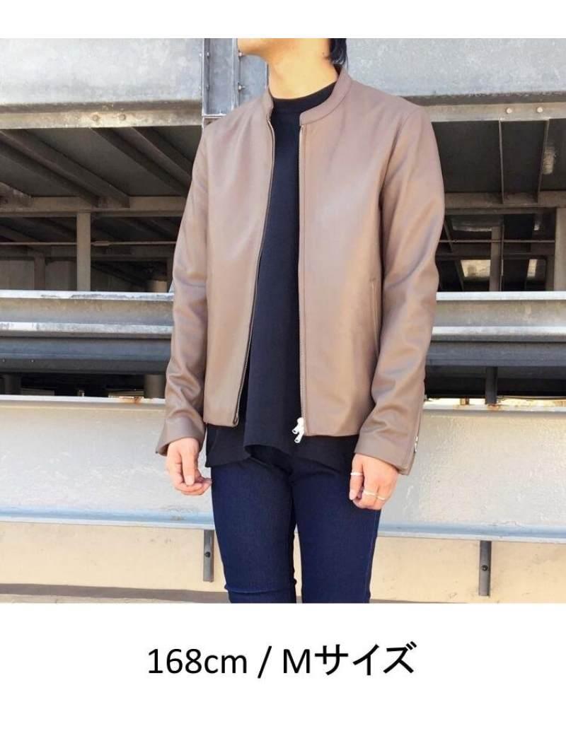 tk TAKEO KIKUCHI ラムレザーシングルライダースジャケット ティーケータケオキクチ コート ジャケット ライダースジャケット レザージャケット ブラック グレー グリーン ベージュ レッド 送料無料QrdtsCh