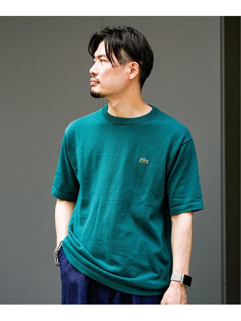 LACOSTE LACOSTE ワンポイントニットT(classic fit) エディフィス カットソー Tシャツ グリーン ネイビー ホワイト レッド【送料無料】