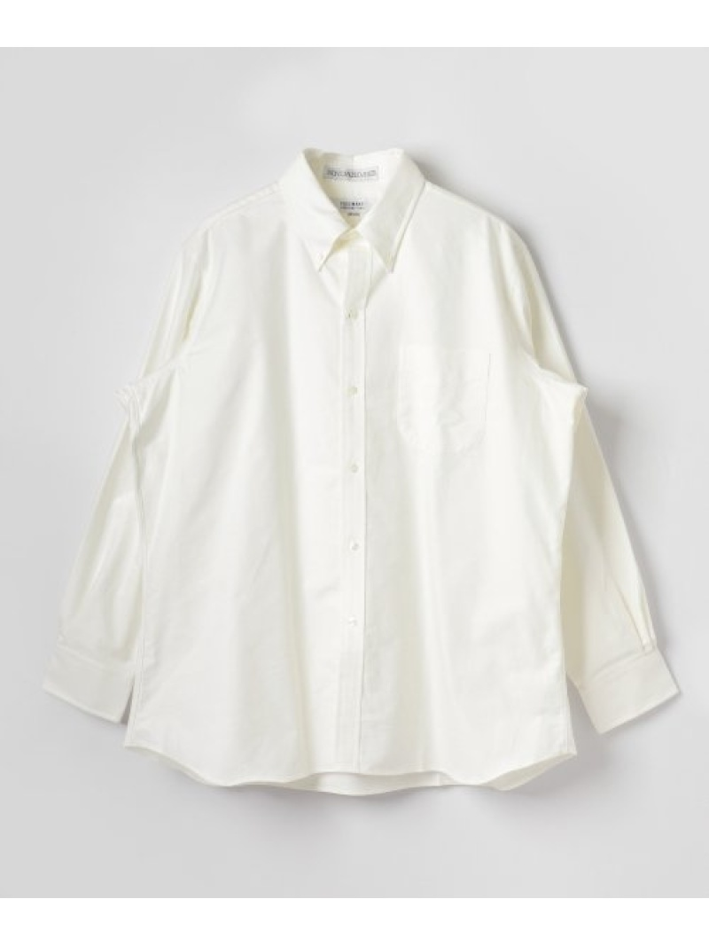 URBAN RESEARCH 【別注】 FSC×INDIVIDUALIZED SHIRTS 6BUTTON CLASSIC FIT アーバンリサーチ シャツ/ブラウス シャツ/ブラウスその他 ホワイト ブルー【送料無料】