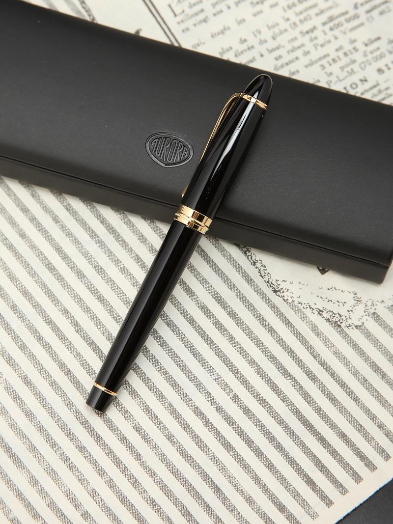 AURORA イプシロン 万年筆 ブラック EF(極細字) アウロラ 生活雑貨【送料無料】