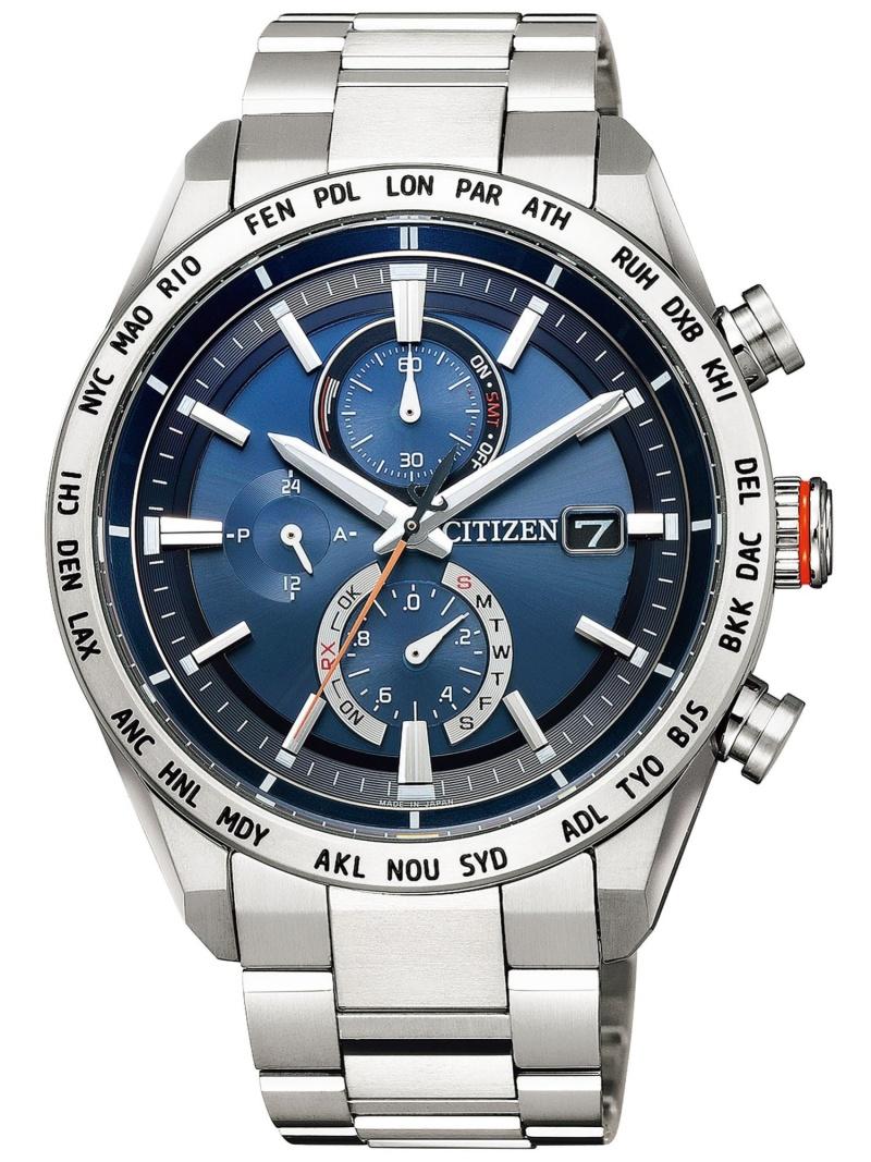 ATTESA ATTESA/(M)エコ・ドライブ電波時計 ダイレクトフライト ACT Line AT8181-63L シチズン ファッショングッズ 腕時計 ブラック【送料無料】