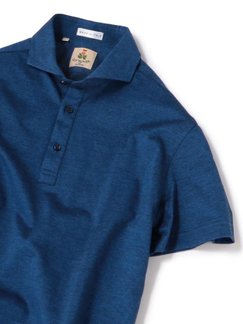 SHIPS GUYROVER:カノコカッタウェイソリッドポロシャツ(ブルー) シップス シャツ/ブラウス ワイシャツ ブルー【送料無料】