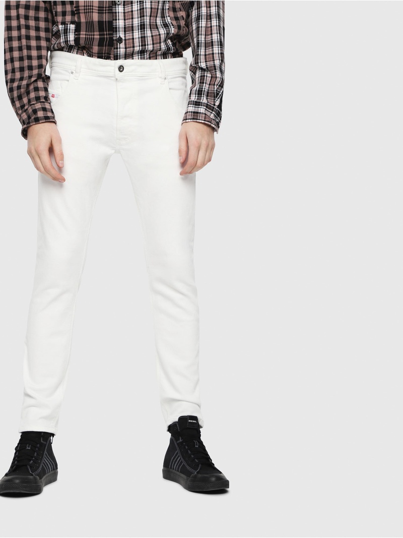 DIESEL KrooleyJoggJeans088AZ ディーゼル パンツ/ジーンズ フルレングス ホワイト【送料無料】