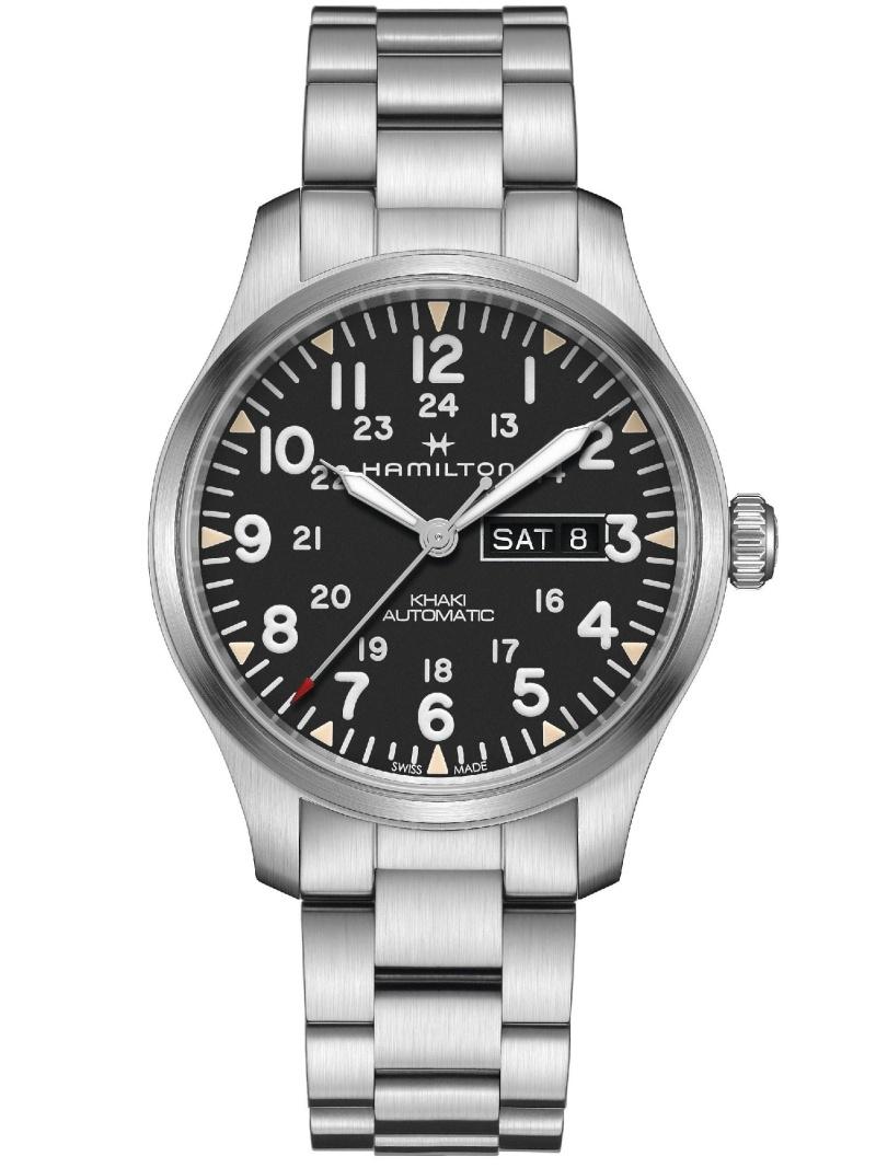 HAMILTON カーキ フィールド デイデイト ハミルトン ファッショングッズ 腕時計 ブラック【送料無料】