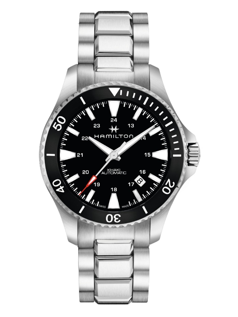 HAMILTON カーキ ネイビー スキューバ ハミルトン ファッショングッズ 腕時計 ブラック【送料無料】