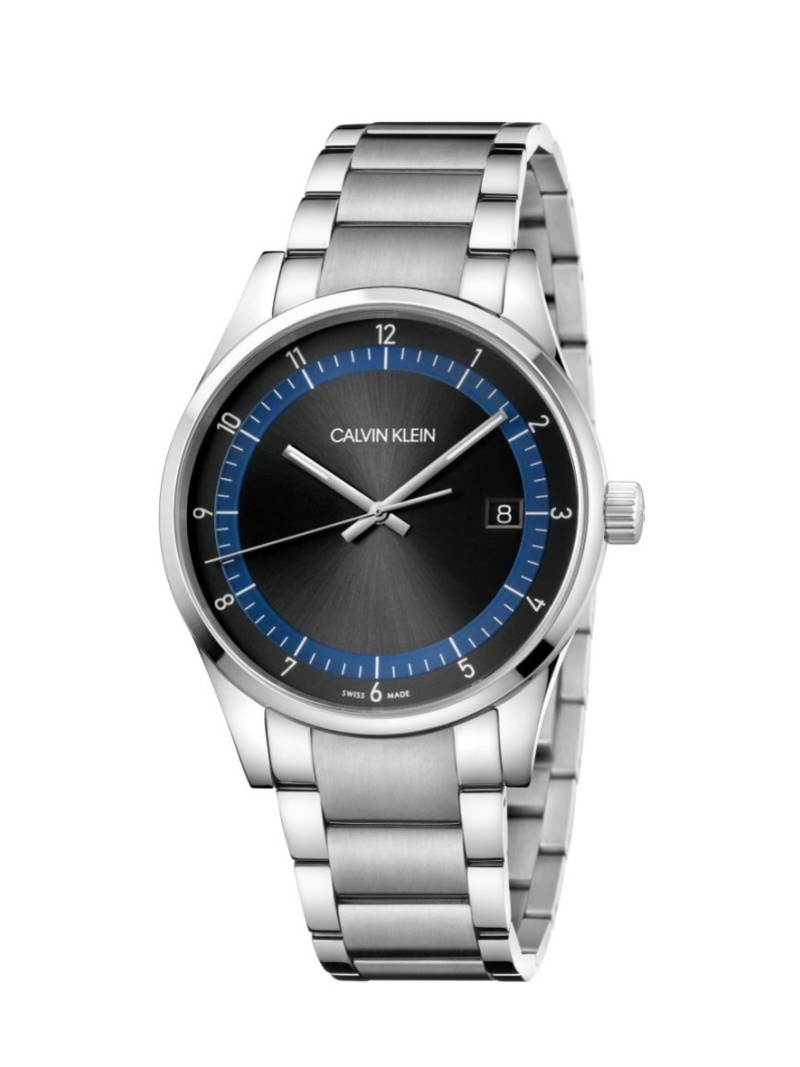 CALVIN KLEIN WATCHES+JEWELRY 腕時計 Completion(コンプリーション) 3針 シルバー×ブラック カルバンクラインウォッチアンドジュエリー ファッショングッズ 腕時計 ブラック【送料無料】