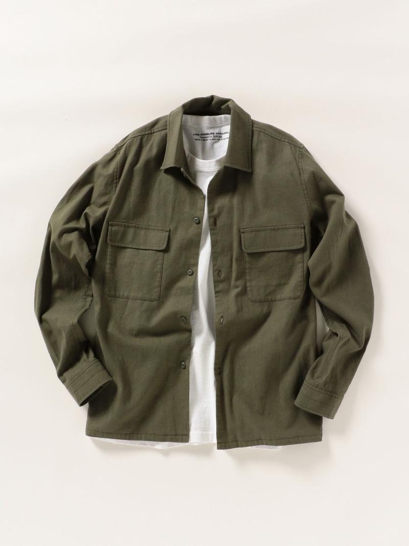 SHIPS any SHIPSany:ミリタリーシャツジャケット シップス コート/ジャケット ブルゾン グリーン ブラック ネイビー【送料無料】